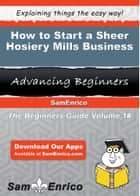 How to Start a Sheer Hosiery Mills Business ebook by Hortense Hibbard
