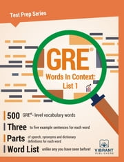 GRE Words In Context: List 1 ebook by Vibrant Publishers