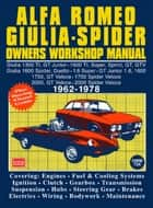 Alfa Romeo Spider Owners Work Manual ebook by Owners Workshop Manual