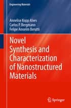 Novel Synthesis and Characterization of Nanostructured Materials ebook by Carlos P. Bergmann, Felipe Amorim Berutti, Annelise Kopp Alves
