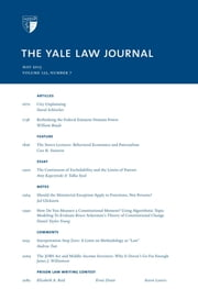 Yale Law Journal: Volume 122, Number 7 - May 2013 ebook by Yale Law Journal