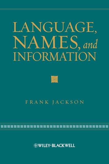 Language, Names, and Information ebook by Frank Jackson