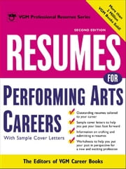 Resumes for Performing Arts Careers ebook by Editors of VGM Career Books