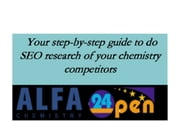 Your step-by-step guide to do SEO research of your chemistry competitors ebook by Tylor Keller