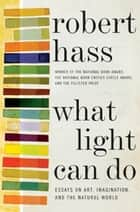 What Light Can Do - Essays on Art, Imagination, and the Natural World ebook by Robert Hass
