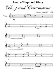 Land of Hope and Glory Pomp and Circumstance Easy Violin Sheet Music ebook by Edward Elgar