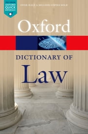 A Dictionary of Law ebook by Jonathan Law