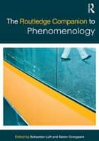 The Routledge Companion to Phenomenology ebook by Sebastian Luft,Soren Overgaard