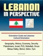 Lebanon in Perspective: Orientation Guide and Lebanese Cultural Orientation: Geography, History, Economy, Security, Palestinians, Israel, PLO, Hizballah, Druze, Bekaa Valley, Beirut, Sidon, Tyre ebook by Progressive Management