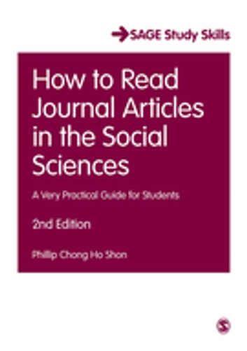 How to Read Journal Articles in the Social Sciences - A Very Practical Guide for Students ebook by Dr. Phillip C. Shon