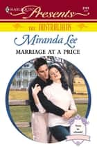 Marriage at a Price ebook by Miranda Lee