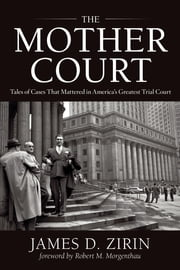 The Mother Court - Tales of Cases that Mattered in America's Greatest Trial Court ebook by James D. Zirin,Robert M. Morgenthau