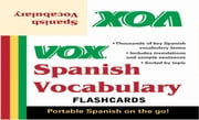 VOX Spanish Vocabulary Flashcards ebook by Vox
