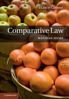 Comparative Law ebook by Mathias Siems