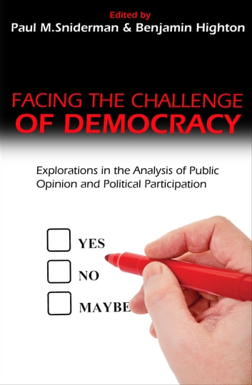 Facing the Challenge of Democracy - Explorations in the Analysis of Public Opinion and Political Participation ebook by