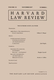Harvard Law Review: Volume 131, Number 1 - November 2017 ebook by Harvard Law Review