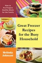 Great Freezer Recipes for the Busy Household - How to Pre-Prepare Healthy Meals for the Family ebook by Melinda Johnson