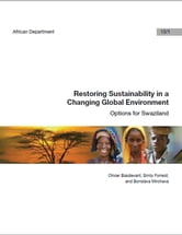 Restoring Sustainability in a Changing Global Environment: Options for Swaziland ebook by Olivier Basdevant,Borislava Miss Mircheva