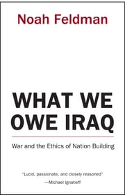What We Owe Iraq - War and the Ethics of Nation Building ebook by Noah Feldman