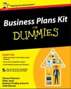 Business Plans Kit For Dummies ebook by Steven D. Peterson, Peter E. Jaret, Barbara Findlay Schenck,...