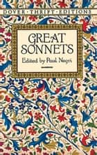 Great Sonnets ebook by Paul Negri