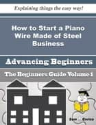 How to Start a Piano Wire Made of Steel Business (Beginners Guide) ebook by Hellen Penn