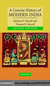 A Concise History of Modern India ebook by Metcalf, Barbara D.