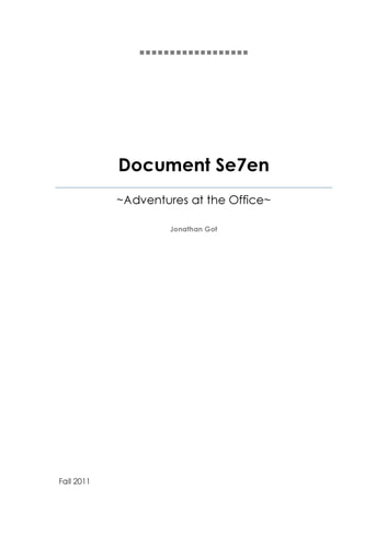Document Se7en ebook by Jonathan Chun-yin Got