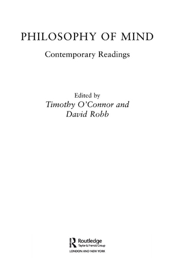 Philosophy of Mind: Contemporary Readings ebook by