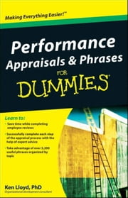 Performance Appraisals and Phrases For Dummies ebook by Ken  Lloyd
