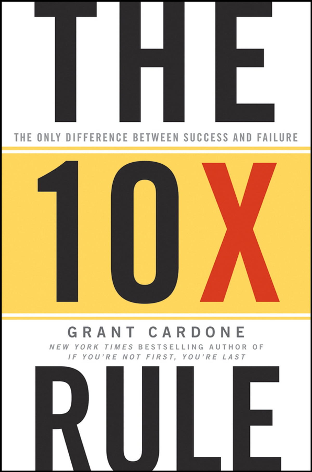 Great by choice ebook by jim collins 9780062121004 rakuten kobo the 10x rule the only difference between success and failure ebook by grant cardone fandeluxe Images