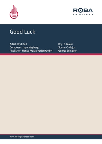 Good Luck - as performed by Karl Dall, Single Songbook ebook by Karl Dall