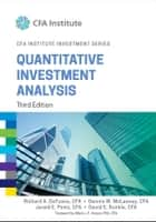 Quantitative Investment Analysis ebook by Richard A. DeFusco, Dennis W. McLeavey, David E. Runkle,...