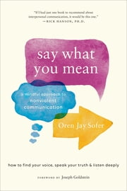Say What You Mean - A Mindful Approach to Nonviolent Communication ebook by Oren Jay Sofer