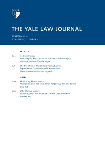 Yale Law Journal: Volume 123, Number 4 - January 2014 ebook by Yale Law Journal