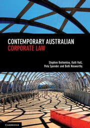 Contemporary Australian Corporate Law ebook by Peta Spender, Kath Hall, Stephen Bottomley,...