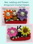 Bee, Ladybug and Flowers Amigurumi Crochet Pattern