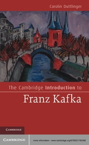 The Cambridge Introduction to Franz Kafka ebook by Carolin Duttlinger