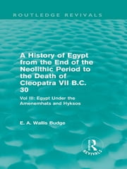 A History of Egypt from the End of the Neolithic Period to the Death of Cleopatra VII B.C. 30 (Routledge Revivals) - Vol. III: Egypt Under the Amenemh?ts and Hyksos ebook by E. A. Wallis Budge