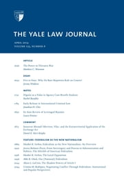 Yale Law Journal: Volume 123, Number 6 - April 2014 ebook by Yale Law Journal