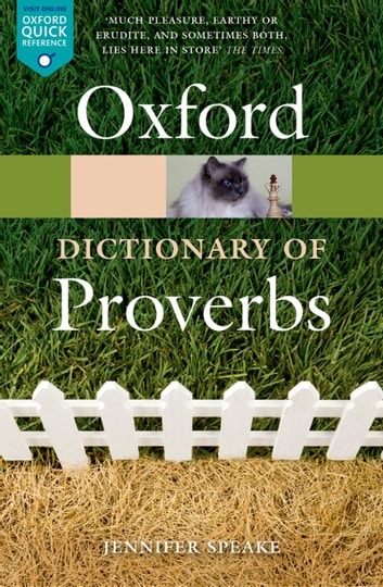 Oxford Dictionary of Proverbs ebook by