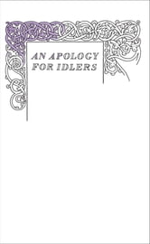 An Apology for Idlers ebook by Robert Louis Stevenson