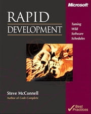 Rapid Development ebook by McConnell, Steve