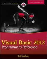 Visual Basic 2012 Programmer's Reference ebook by Rod Stephens