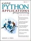 Core Python Applications Programming