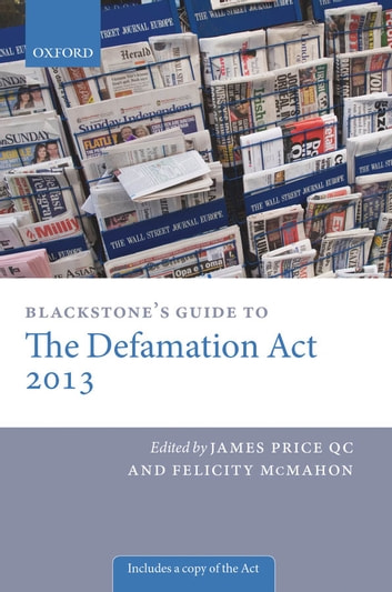 Blackstone's Guide to the Defamation Act ebook by