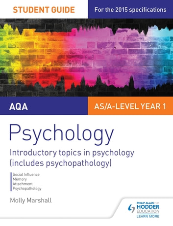 AQA Psychology Student Guide 1: Introductory topics in psychology (includes psychopathology) ebook by Molly Marshall