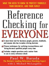 Reference Checking for Everyone ebook by Barada, Paul