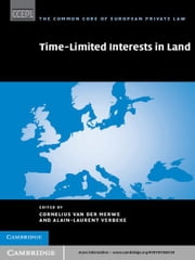 Time Limited Interests in Land ebook by Professor Cornelius Van Der Merwe,Professor Alain-Laurent Verbeke