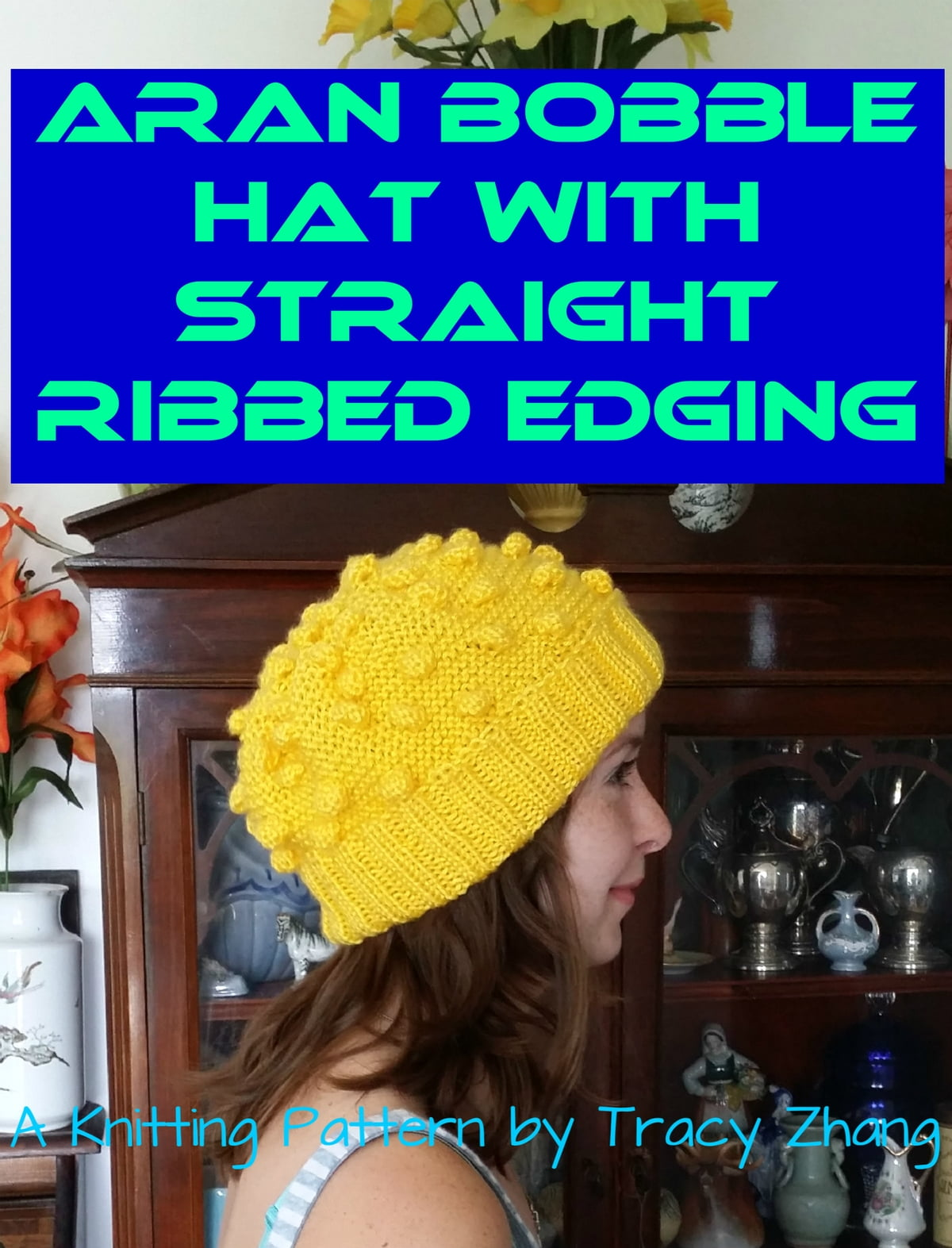 Aran Bobble Hat with Straight Ribbed Edging Knitting Pattern eBook ...